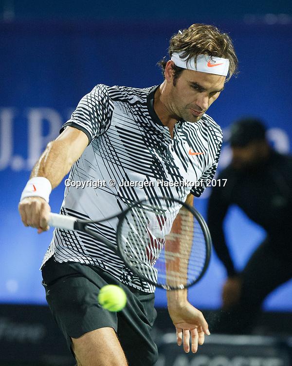 ROGER FEDERER (SUI)<br /> <br /> Tennis - Dubai Duty Free Tennis Championships - ATP -  Dubai Duty Free Tennis Stadium - Dubai -  - United Arab Emirates  - 27 February 2017. <br /> &copy; Juergen Hasenkopf