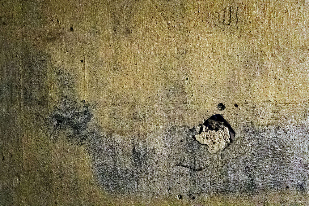 Breendonk, Nazi Prison Camp, Belgium Wall markings leave scars upon the walls of Fort Breendonk, a former Nazi concentration camp in Belgium.<br />