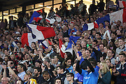 French fans during the national anthem during the Rugby World Cup Pool D match between France and Italy at Twickenham, Richmond, United Kingdom on 19 September 2015. Photo by Matthew Redman.