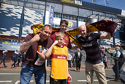 Motherwell fans before the William Hill Scottish Cup Final at Hampden Park, Glasgow. PRESS ASSOCIATION Photo. Picture date: Saturday May 19, 2018. See PA story SOCCER Scottish Final. Photo credit should read: Jeff Holmes/PA Wire. RESTRICTIONS: EDITORIAL USE ONLY