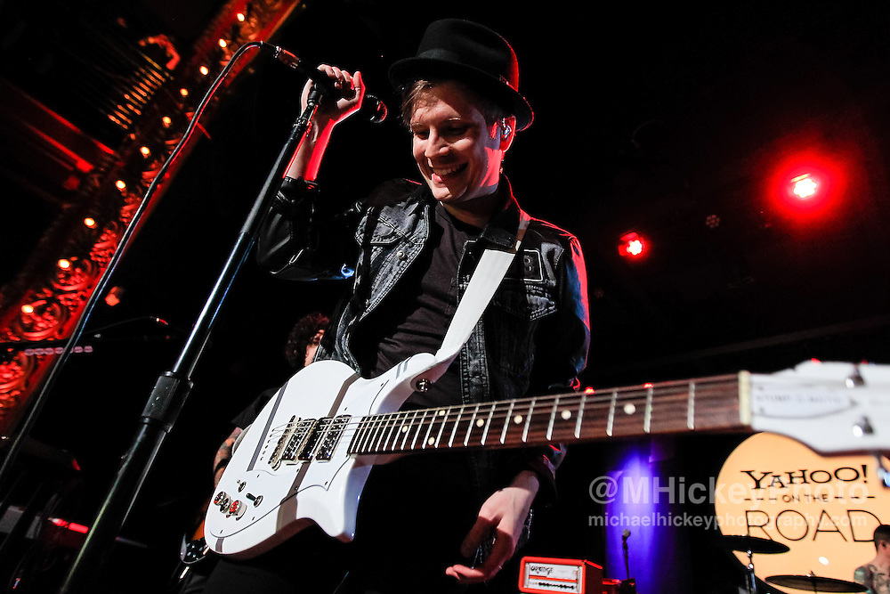 MADISON, WI - MAY 13: Patrick Stump of Fall Out Boy performs during Yahoo! On The Road at Majestic Theatre on May 13, 2013 in Madison, Wisconsin. (Photo by Michael Hickey/WireImage) *** Local Caption *** Patrick Stump
