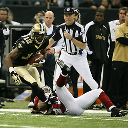 2007 December, 16: New Orleans Saints wide receiver Marques Colston (12) in action during a 31-24 win by the New Orleans Saints over the Arizona Cardinals at the Louisiana Superdome in New Orleans, LA.