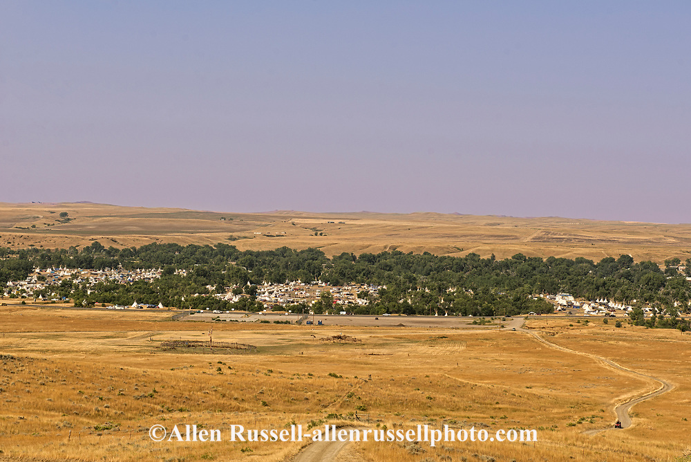 Crow Fair, Tipi Capital of the World, Crow Indian Reservation, Montana, view from the east