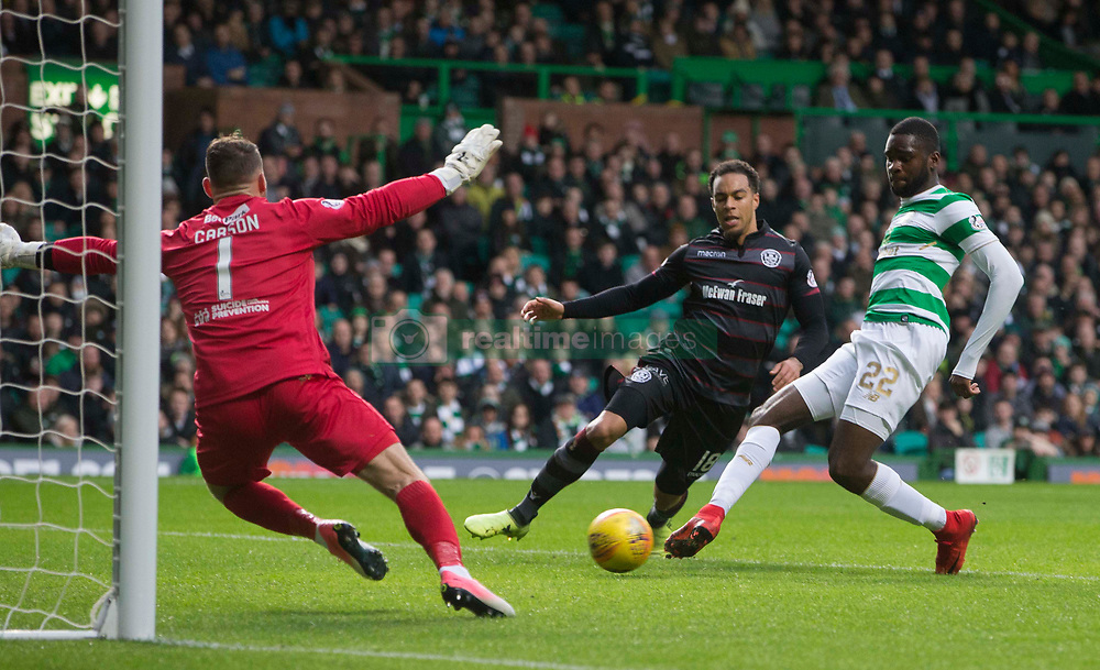 Celtic's Odsonne Edouard scores his side's first goal of the game during the Ladbrokes Scottish Premiership match at Celtic Park, Glasgow. PRESS ASSOCIATION Photo Picture date: Saturday December 2, 2017. See PA story SOCCER Celtic. Photo credit should read: Jeff Holmes/PA Wire. RESTICTIONS: EDITORIAL USE ONLY