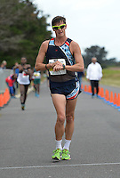 CAPE TOWN, SOUTH AFRICA - OCTOBER 08: Wayne Snyman of AGN wins the senior mens 10km but was later disqualified for not wearing his age category badge during the ASA 50km and Interprovincial Race Walking Championships at Youngsfield Military base on October 08, 2016 in Cape Town, South Africa. (Photo by Roger Sedres/Gallo Images)