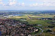 Nederland, Zuid-Holland, Katwijk, 15-07-2012; Katwijk aan de Rijn en Valkenburg, voormalig vliegkamp (vliegveld) Valkenburg..Former airport Valkenburg and a residential district in Katwijk..luchtfoto (toeslag), aerial photo (additional fee required).foto/photo Siebe Swart