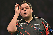 Adrian Lewis   during the Betway Premier League Darts at the Manchester Arena, Manchester, United Kingdom on 23 March 2017. Photo by Mark Pollitt.