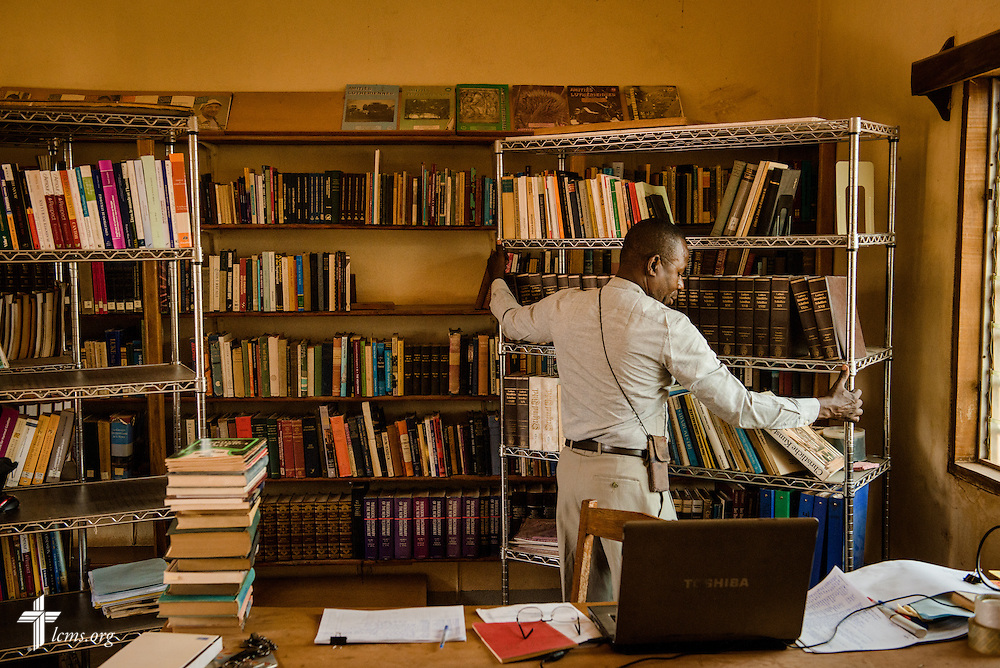 The library of the Lutheran Center for Theological Studies (CLET) on Wednesday, Feb. 15, 2017, in Dapaong, Togo. LCMS Communications/Erik M. Lunsford