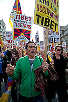 Tibetan annual march asking for freedom from Chinese occupation, Central London  2011