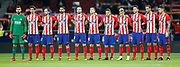 Atletico Madrid's players stand during the Spanish Cup, Copa del Rey quarter final, 1st leg football match between Atletico Madrid and Sevilla FC on January 17, 2018 at Wanda Metropolitano stadium in Madrid, Spain - Photo Benjamin Cremel / ProSportsImages / DPPI