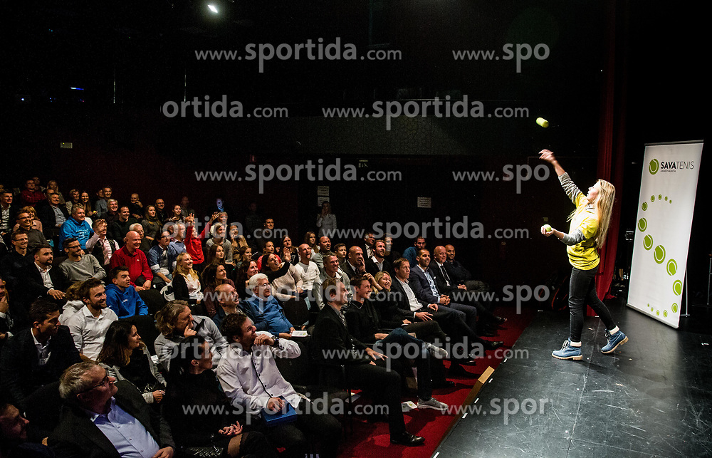 Spectators during Slovenian Tennis personality of the year 2017 annual awards presented by Slovene Tennis Association Tenis Slovenija, on November 29, 2017 in Siti Teater, Ljubljana, Slovenia. Photo by Vid Ponikvar / Sportida
