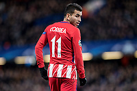 LONDON,ENGLAND - DECEMBER 05: Atletico Madrid (11) Ángel Correa during the UEFA Champions League group C match between Chelsea FC and Atletico Madrid at Stamford Bridge on December 5, 2017 in London, United Kingdom.  <br /> ( Photo by Sebastian Frej / MB Media )