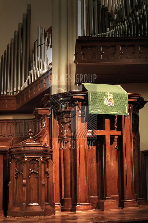 empty church pulpit