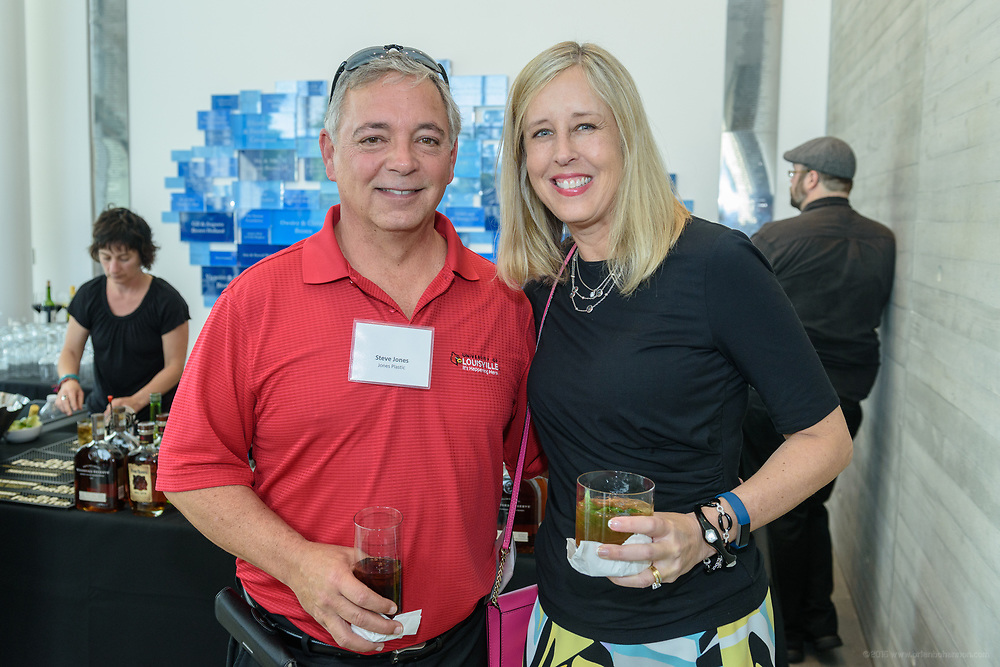 Steve Jones and Jenny Nelson at the 10-year anniversary celebration of Republic Bank's Private Banking and Business Banking divisions Wednesday, May 17, 2017, at the Speed Art Museum in Louisville, Ky. (Photo by Brian Bohannon)