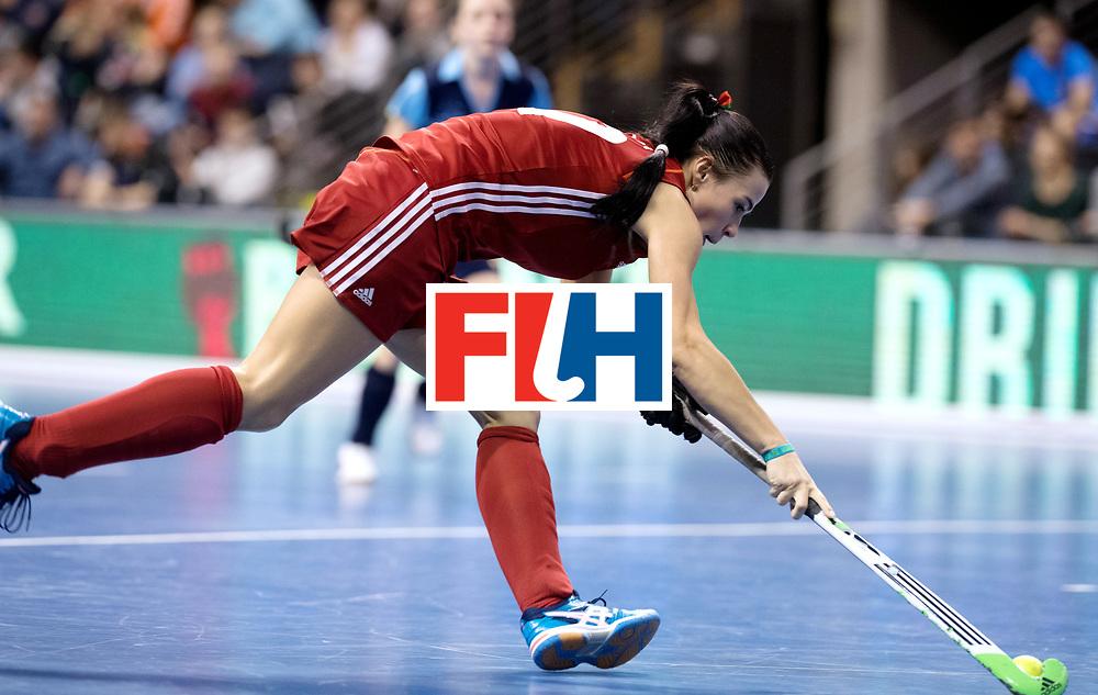 BERLIN - Indoor Hockey World Cup<br /> Bronze: Ukraine - Belarus<br /> Belarus wins 3rd place.<br /> foto: NIKITSINA Maryna.<br /> WORLDSPORTPICS COPYRIGHT FRANK UIJLENBROEK