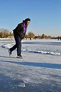 Sur le lac Xihai , 23 décembre 2012. Pékin.