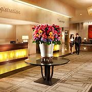 The Beverly Hilton lobby