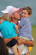 Matt Kuchar celebrates with his two sons Cameron, 4, right and Carson, 2, left after winning the Players Championship at the TPC Sawgrass on May 13, 2012 in Ponte Vedra, Fla. ..©2012 Scott A. Miller..