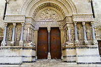 Arles in southern France was in 123 BC taken by the Romans who expanded it into an important city. Church of St. Trophime.