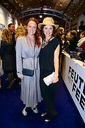 AMSTERDAM - In theater Tuschinski is de Nederlandse film 'Feuten het Feestje' in premiere gegaan. Met hier op de foto  Juliette van Ardenne en Fockeline Ouwerkerk. FOTO LEVIN DEN BOER - PERSFOTO.NU