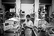 Newborns are even smaller, undefended. Parents are unquiet and machines sound their beeps. <br />