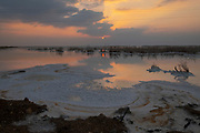 Sun set over the Dead Sea, Israel