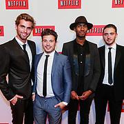 NLD/Amsterdam/20130911 - Lancering Netflix in Nederland, Manuel Broekman, Geza Weisz, Nathan Moszkowicz en Dio, Diorno Braaf