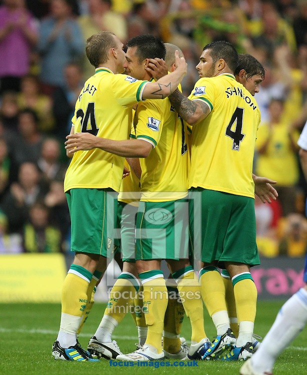 Ritchie De Laet opens the scoring during a pre season friendly at Carrow Road stadium, Norwich...Picture by Paul Chesterton/Focus Images Ltd.  07904 640267.3/8/11