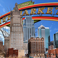 Kansas City, Missouri Composite of Two Photos<br />