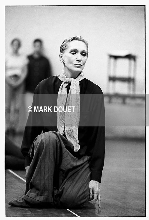 A LITTLE NIGHT MUSIC by Sondheim.<br /> Sian Phillips as Madame Armfeldt.<br /> Rehearsal studios, London