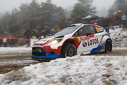 16.01.2014, Shakedownstrecke, Gap, FRA, FIA, WRC, Rallye Monte Carlo, 1.Tag, SS Laborel 1, im Bild KUBICA Robert / SZCZEPANIAK Maciej ( RK M Sport World Rallye Team (GBR) / Ford Fiesta RS ), Aktion / Action // during the Shakedown on day one of FIA Rallye Monte Carlo held near Monte Carlo, France on 2014/01/16. EXPA Pictures © 2014, PhotoCredit: EXPA/ Eibner-Pressefoto/ Neis<br /> <br /> *****ATTENTION - OUT of GER*****