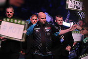 Rob Cross, 2018 World Champion. Premier League debutant during the Unibet Premier League Darts Night 13 competition at the Manchester Arena, Manchester, United Kingdom on 26 April 2018. Picture by Mark Pollitt.