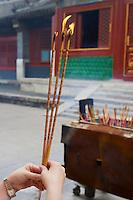 Chine, Pékin (Beijing), temple des Lamas (Lama Temple - Yonghe Gong) // China, Beijing, Tibetan Lama Temple or Yonghe Gong