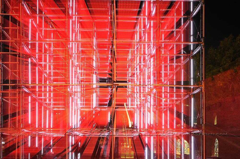 Audiovisual cubic in Brooklyn, New York City. 2011.