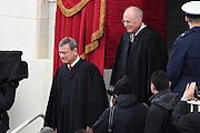 Supreme Court Chief Justice John Roberts walks with Justice Anthony Kennedy during the arrivals for the 68th President Inaugural Ceremony on Capitol Hill January 20, 2017 in Washington, DC. Donald Trump became the 45th President of the United States in the ceremony.