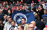 Millwall fans celebrate after winning the Sky Bet League 1 play-off final at Wembley Stadium, London<br /> Picture by Glenn Sparkes/Focus Images Ltd 07939664067<br /> 20/05/2017