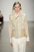 Julia Nobis walks down runway for F2012 Reed Krakoff's collection in Mercedes Benz fashion week in New York on Feb 10, 2012 NYC