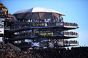 Pittsburgh Steelers look down from the pavilion during the NFL 2018 AFC Divisional playoff football game against the Jacksonville Jaguars, Sunday, Jan. 14, 2018 in Pittsburgh. The Jaguars won the game 45-42. (©Paul Anthony Spinelli)