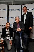 David Garrett, Itzhak Perlman and David Srebnik of SiriusXM visit the studios of SiriusXM Satellite Radio in New York on June 6, 2012..Photo Credit ; Rahav Iggy Segev / Photopass.com