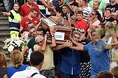 Funeral for 4 boys who died in the collapse of the Genoa bridge - 19 Aug 2018