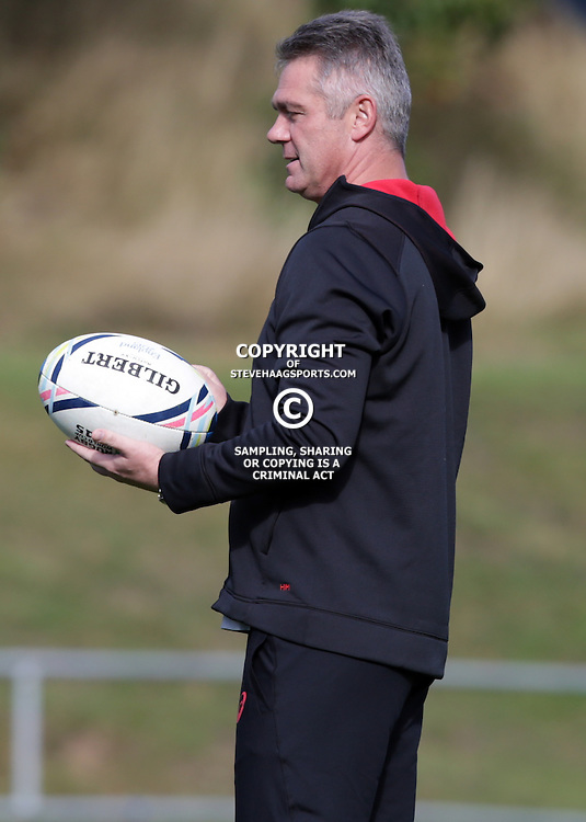 BIRMINGHAM, ENGLAND - SEPTEMBER 21: Heyneke Meyer (Head Coach) of South Africa during the during the South African national rugby team training session at University of Birmingham on September 21, 2015 in Birmingham, England. (Photo by Steve Haag/Gallo Images)