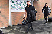 Norwich manager Daniel Farke arriving at Turf Moor.  The FA Cup match between Burnley and Norwich City at Turf Moor, Burnley, England on 25 January 2020.