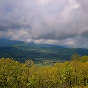 """""""Blue Ridge Stormin""""<br /> <br /> A scenic mountain view during a storm in the Blue Ridge Mountains of Virginia!!<br /> <br /> The Blue Ridge Mountains by Rachel Cohen"""