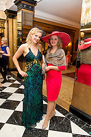 Joyce and Maude Fahy from Tuam at Hotel Meyrick on Ladies Day of the Galway Races,  for a best dressed competition, sponsored by Brown Thomas Galway, hosted by RTE's  Republic of Telly Star Jennifer Maguire. Photo:Andrew Downes. Photo issued with Compliments, no reproduction fee on first publication.