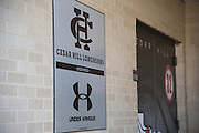 Under Armour branded wraps in the athletic department at Cedar Hill High School in Cedar Hill, Texas on August 24, 2016. &quot;CREDIT: Cooper Neill for The Wall Street Journal&quot;<br /> TX HS Football sponsorships