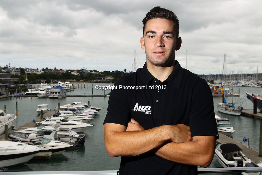 Josh Porebski, The New Zealand sailing team members are announced for 2014. Orams Captains Lounge, Auckland. 18 December 2013. Photo: William Booth/www.photosport.co.nz