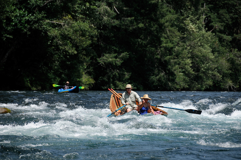 McKenzie River Drift Boat on the McKenzie River, near Blue River, Oregon, USA