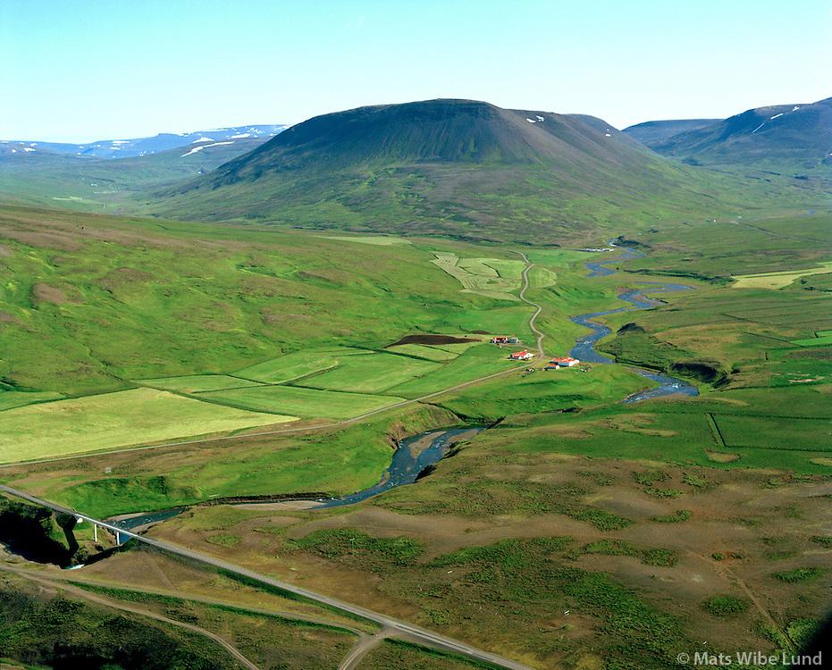 Njálsstaðir séð til austurs, Skagabyggð áður Vindhælishreppur / Njalsstadir viewing east, Skagabyggd former Vindhaelishreppur.