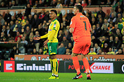 Norwich City midfielder Josh Murphy (11) appeals for a foul during the EFL Sky Bet Championship match between Norwich City and Burton Albion at Carrow Road, Norwich, England on 12 September 2017. Photo by Richard Holmes.