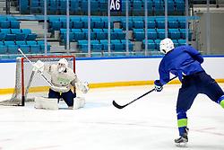 Luka Gracnar at ice hockey practice one day before at IIHF World Championship DIV. I Group A Kazakhstan 2019, on April 28, 2019 in Barys Arena, Nur-Sultan, Kazakhstan. Photo by Matic Klansek Velej / Sportida
